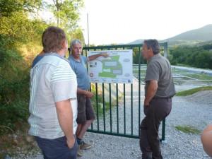 Visite du conseil municipal en juin 2015